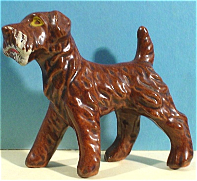 1950s/1960s Japan Redware Terrier Dog