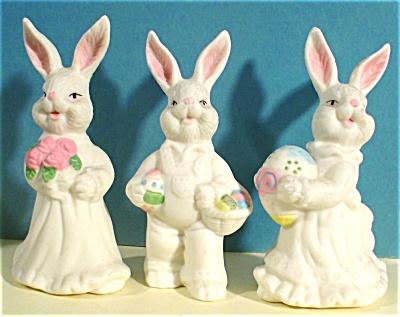 Three Bone China Rabbits (Image1)