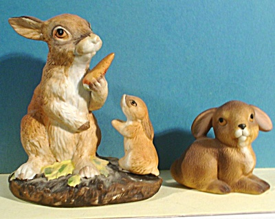 Two Rabbit Figurines