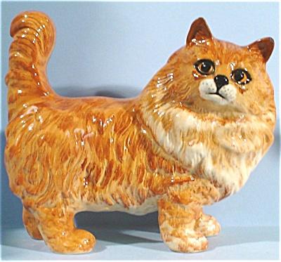 Beswick Ginger Persian Cat #1898 (Image1)