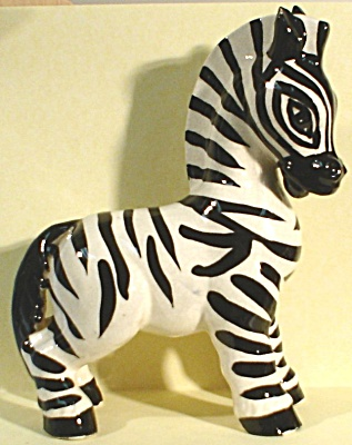1940s California Pottery Zebra (Image1)