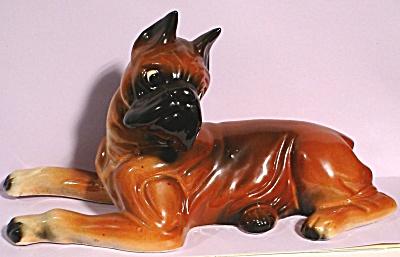 1950s Japan Pottery Boxer Dog (Image1)