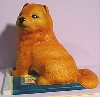 1987 Franklin Mint Chow Chow Dog (Image1)