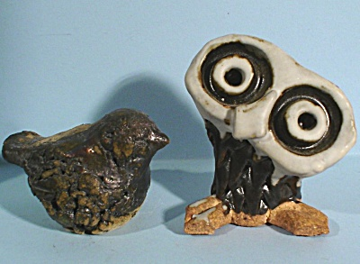Two Clay Birds