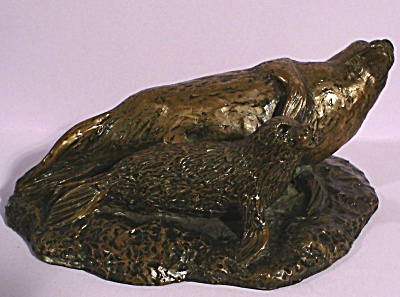 Small Bronze Seal and Pup (Image1)