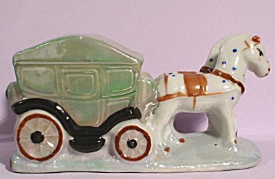 1920s/1930s Horse and Carriage Ashtray (Image1)