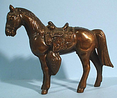 1960s Pot Metal Western Horse (Image1)