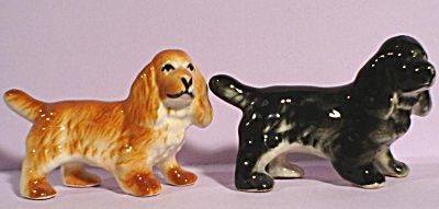 Pair of Pottery Spaniel Dogs (Image1)