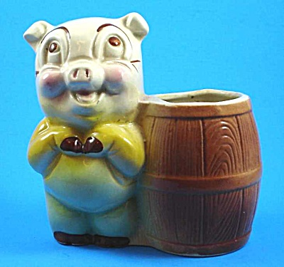 1930s/1940s Pig and Barrel Planter (Image1)