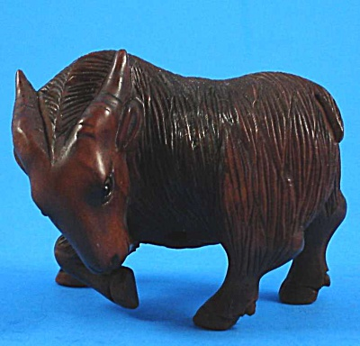 Cool Carved Netsuke Billy Goat (Image1)