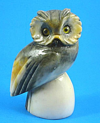 Carved Stone Owl
