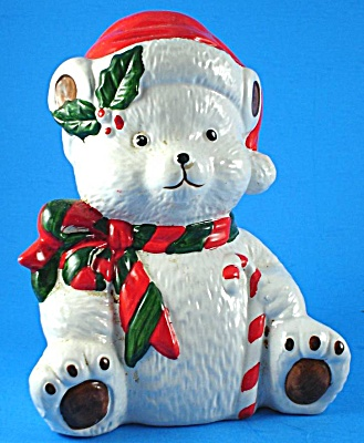 Ron Gordon Designs Ceramic Christmas Polar Bear Bank (Image1)