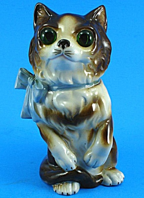 German Porcelain Perfume Lamp Cat Nightlight