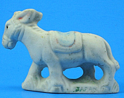 1930s/1940s Miniature Bisque Donkey (Image1)
