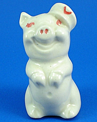 1930s/1940s US Pottery Pig Figure (Image1)