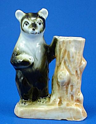 1950s/1960s Bear with Tree Stump Toothpick Holder (Image1)