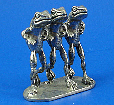 Miniature Pewter Jogging Frogs (Image1)
