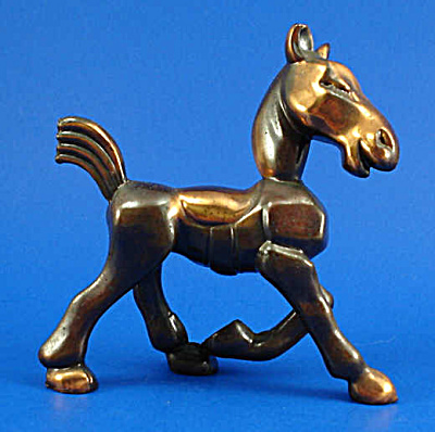 1940s Solid Cast Metal Trotting Horse