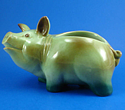 1930s/1940s Pottery Pig Planter (Image1)
