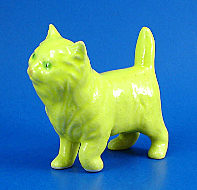 Small Yellow Pottery Cat (Image1)