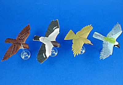 Kaiyodo Furuta Choco Egg Miniature Birds, 4 pieces (Image1)