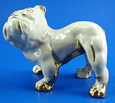 1940s Le Pere Pottery Of Ohio Bulldog