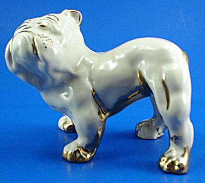 1940s Le Pere Pottery of Ohio Bulldog (Image1)