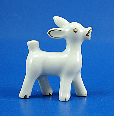 1940s Miniature Pottery Deer (Image1)