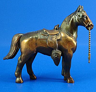 1940s/1950s Pot Metal Western Horse (Image1)