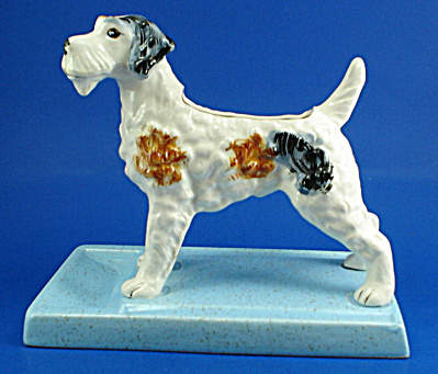 Pottery Fox Terrier Dresser Caddy (Image1)
