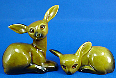 Roselane Pottery Deer Pair
