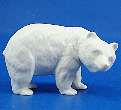 Bone China Bisque Grizzly Bear