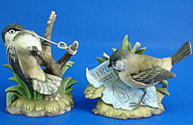 1985 Enesco Bone China Chickadee Pair