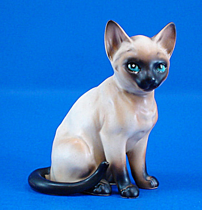 Lefton Ceramic Sitting Siamese Kitten