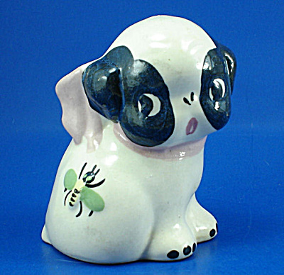Block Pottery Puppy Dog Planter