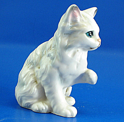 Lefton White Persian Kitten