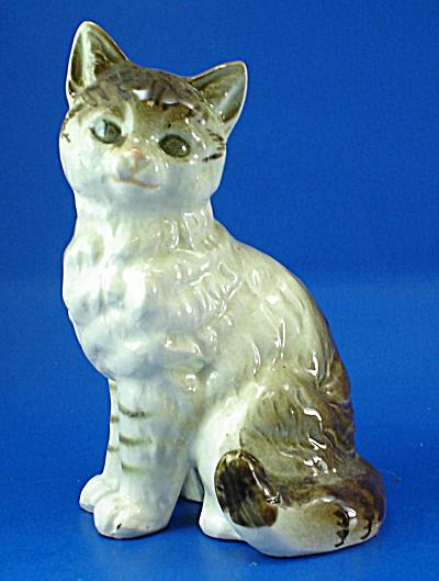 1950s/1960s Japan Ceramic Tabby Cat (Image1)