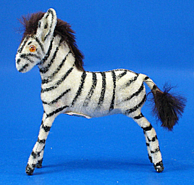 West Germany Flocked Zebra