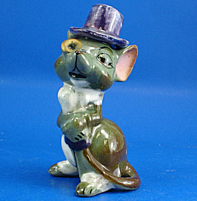 1950s Japan Pottery City Mouse Papa (Image1)