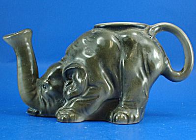 Vintage Porcelain Small Elephant Sprinkler Can (Image1)