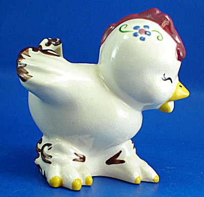 California Ross Pottery Chicken Planter (Image1)