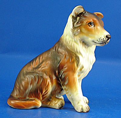 Japan Ceramic Sitting Collie Puppy