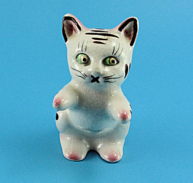 Japan Ceramic Tabby Cat S/P Shaker Set (Image1)