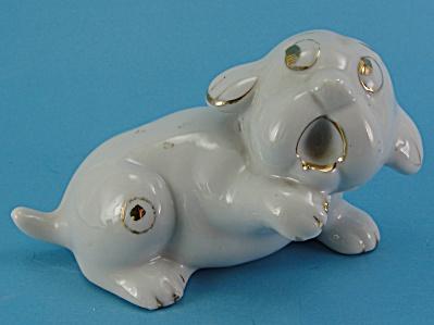 Japan Porcelain Scared Puppy Dog (Image1)