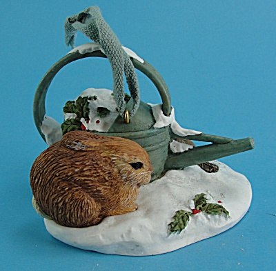 Hallmark Resin Rabbit and Watering Can (Image1)