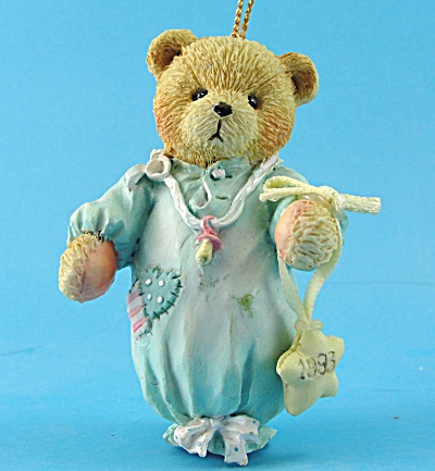 Hamilton Gifts 1993 Resin Bear Ornament by P. Hillman (Image1)