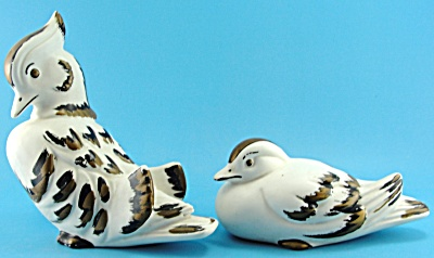 Norcrest 1960s White And Gold Wood Duck Pair