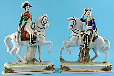 Vintage Capodimonte Porcelain Generals on Horses (Image1)
