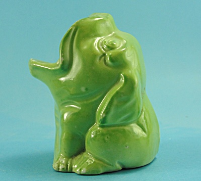 1920s/1930s Big Mouth Green Dog Toothbrush Holder