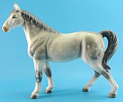 Japan Ceramic Dapple Grey Horse (Image1)